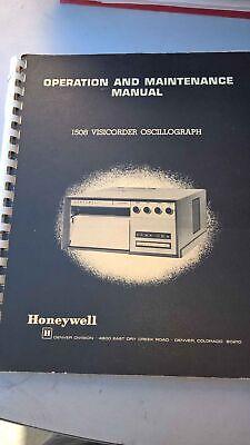 Honeywell Instructions For Visicorder Oscillograph Model 1508 Manuals Set
