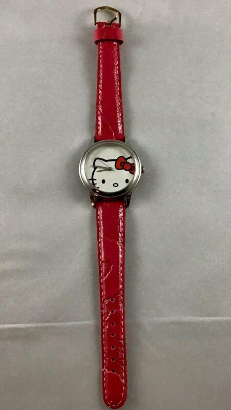 Sanrio Hello Kitty Wrist Watch Pink Leather