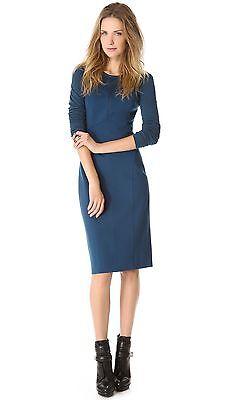 DKNY Donna Karan Modern Long Sleeve Structured Ponte Jersey Dress $335, 0, Nwt!