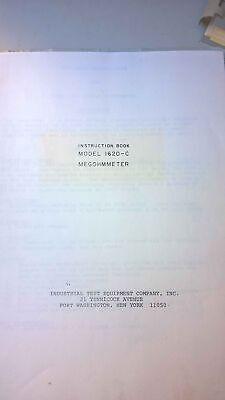Freed Transformer Model 1620-c Megohmmeter Instruction Book