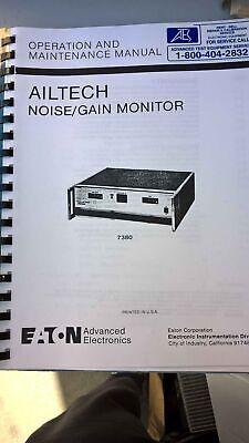 Eaton Ailtech 7380 Noisegain Monitor Operation And Manintenance Manual