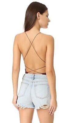 T by Alexander wang Crisscross Strap Back Bodysuit in Garnet size S NWT