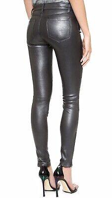 J Brand Real Leather Leggings Uk 4 Skinny Trousers  Rrp £870 Pewter Grey