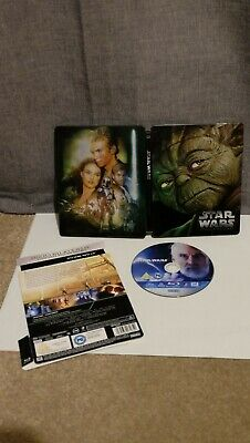 Star Wars Episode II Attack of the Clones Blu-ray (Bluray) Steelbook OOP