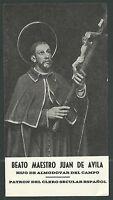 Estampa Antigua Beato Juan Avila Andachtsbild Santino Holy Card Santini -  - ebay.es