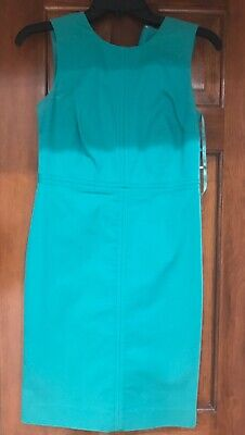 Ann Taylor Green Side Zip Detail Seamed Pencil Dress  Sz 0 Petite  ()