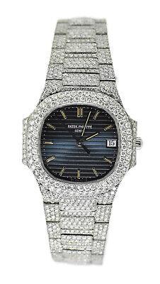Patek Philippe Nautilus 20 CTW Diamond Blue Dial Stainless Steel Watch 3900/1