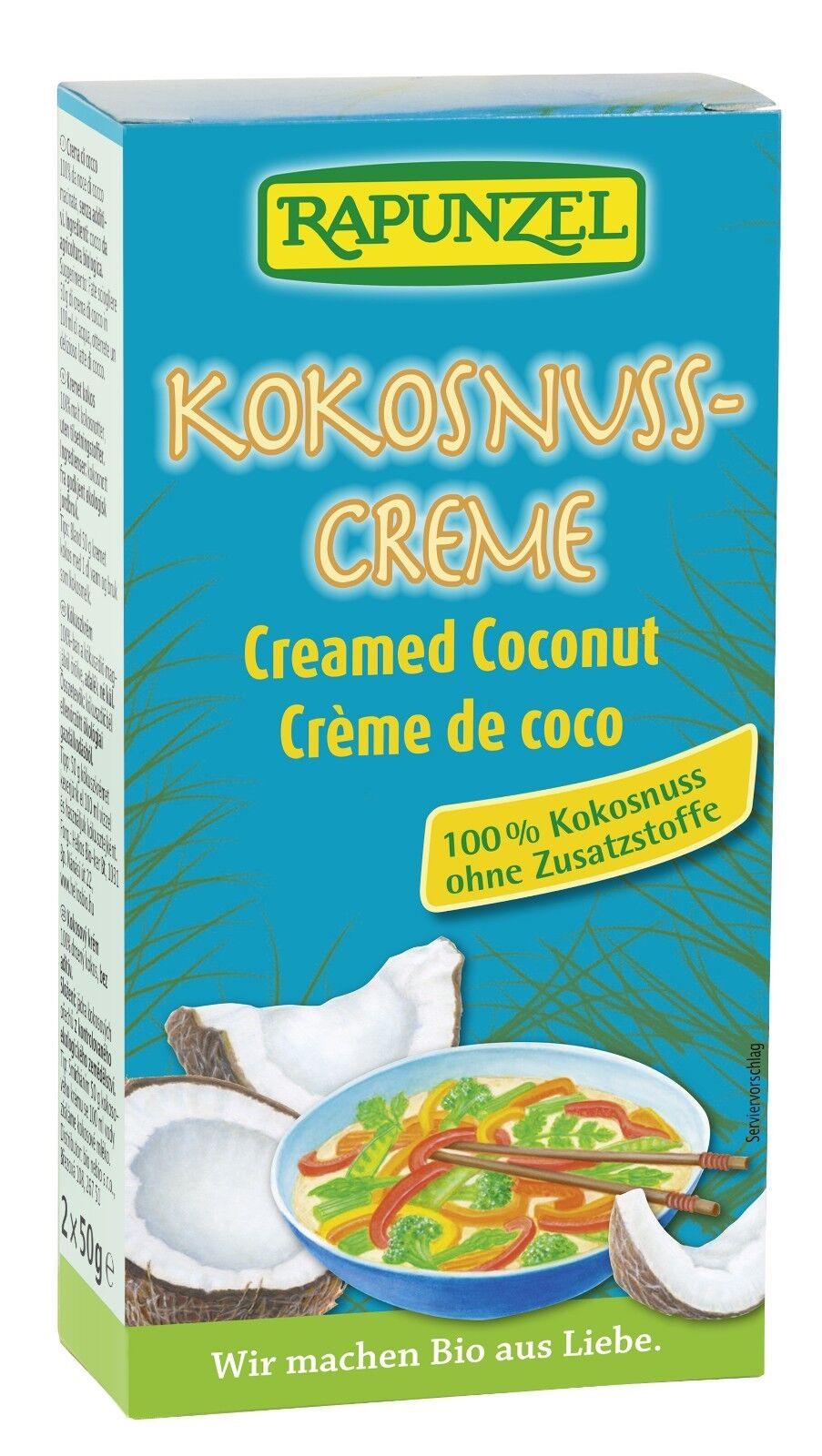 RAPUNZEL - Kokosnuss-Creme - zaubert einen Hauch Exotik  - 100gr  BIO AUS LIEBE