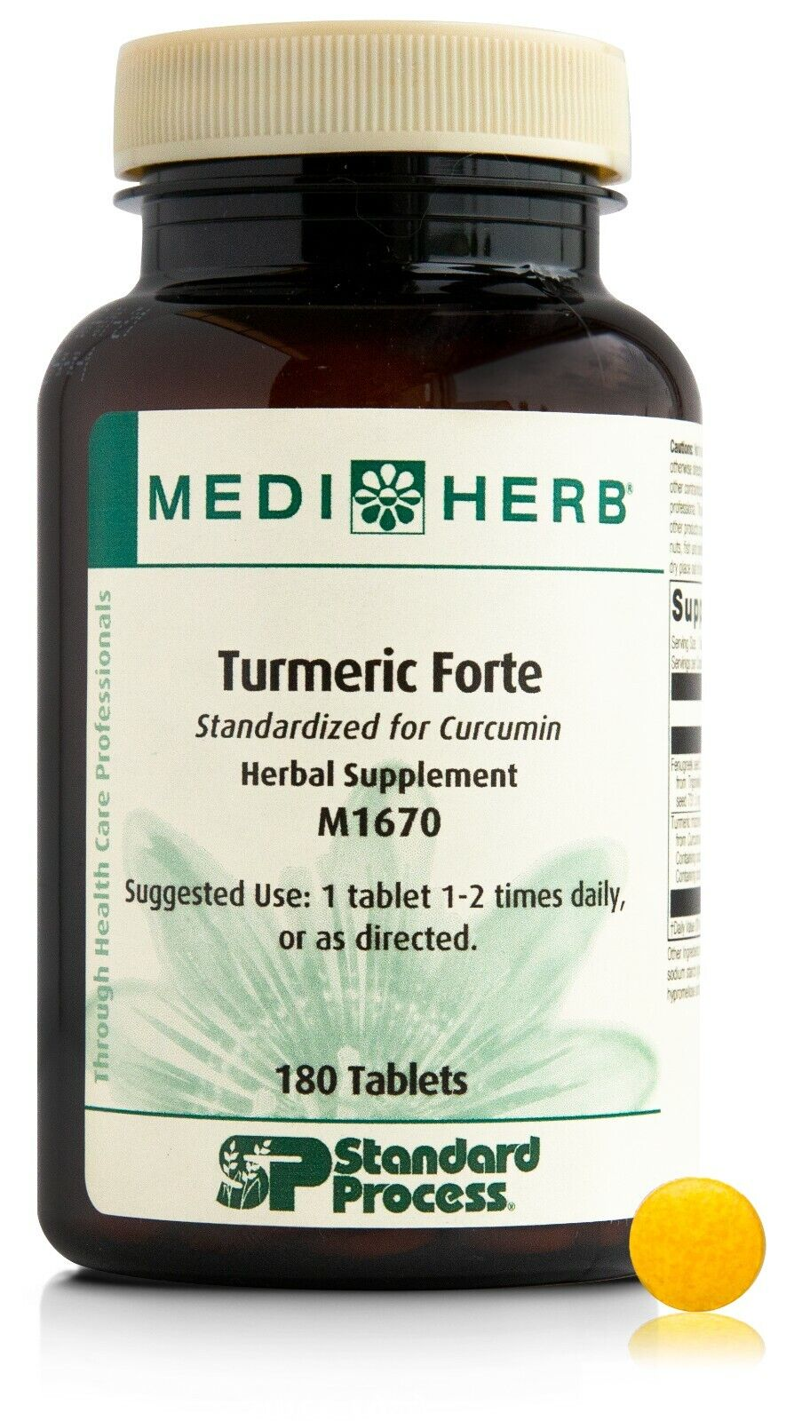 Standard Process - MediHerb - Turmeric Forte 180T  Exp 08/21 - Free shipping