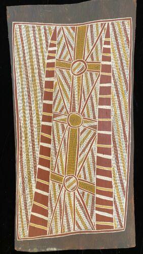 Aboriginal Bark painting Freshwater Dreaming  1976