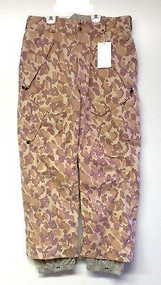 ANALOG Men's BOUNDARY Snow Pants - DUST CAMO - Large - NWT
