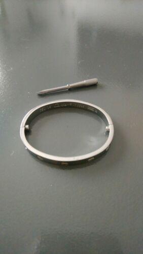 ????bracelet style cartier acier inoxydable, taille 16,5???? intérieur 5,5cm h4,5 cm
