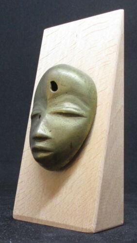 Rare DAN Miniature Brass Passport Mask - Guinean Forest (former AOF) - late 1800