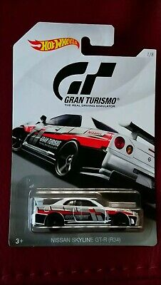 2017 HOT WHEELS  NISSAN SKYLINE GT-R (R34) GRAN TURISMO CAR (VERY RARE)