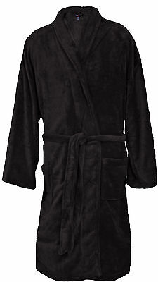 Big & Tall Men's Foxfire Plush Robe 3XL/4XL or 5XL/6XL Dual Size #238 Black - Big And Tall Mens Robe
