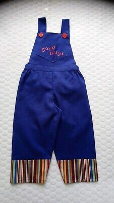 Months Chucky Halloween Costume Outfit Dungarees Fancy Dress (Chucky Kids Halloween-kostüm)