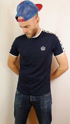 Admiral Taped Ringer T Tee Shirt Medium Blue