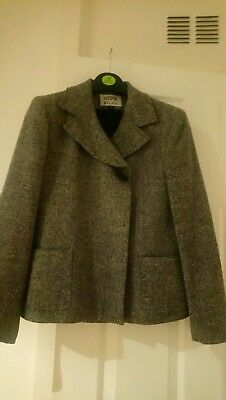 KASPER A.S.L. PETITE WOOL JACKET WITH CONCEALED BUTTONS  UK 10 US 6