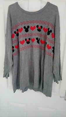 Disney EMP/Hot Topic Minnie/Mickey Mouse Jumper Size 4 (UK24/26)
