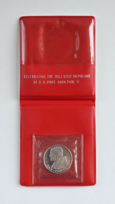 1982 Poland 100 Zlotych Uncirculated Silver Coin (1983 Pope John Paul II Visit)