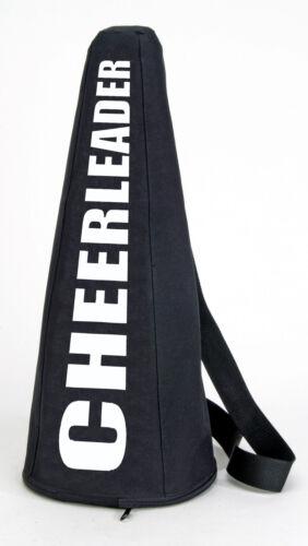 "CheerLeader Black Megaphone Transportation bag 3 sizes 19""  25""  32"""
