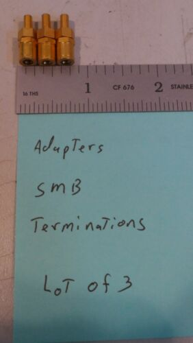 (3) Adapter SMB Gold PlatedTermination