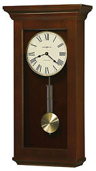 Howard Miller 625-468 (625468) Continental Wall Clock - Cherry Bordeaux
