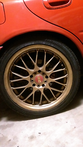 BBS ? 17 inch alloys x4 good tyres , Subaru,Toyota etc Caboolture Caboolture Area Preview