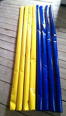 4 Dualstangen Dualgassen Bodenarbeit Stangen 2x Blau 2x Gelb 3m lang Trabstangen