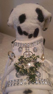 Softgeschirr  Brustgeschirr Hundegeschirr XS-M Welpen Hochzeit für Traurringe (Geschirr Für Hochzeit)