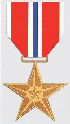 BRONZE STAR MEDAL STICKER - DECAL - MADE IN THE USA!!