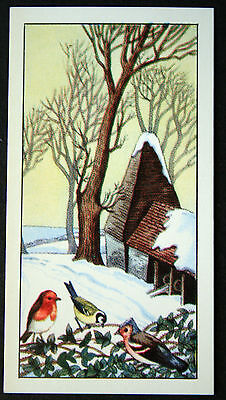 Southern English Winter Farm Scene    Delightful Vintage Illustrated Card    EXC