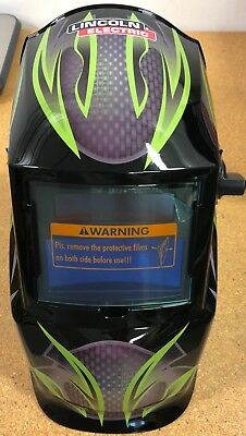 Lincoln Electric K4438-1 Galaxsis Helmet Variable Shade 9-13 Auto Darkening Len