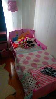 Single pink princess bed frame