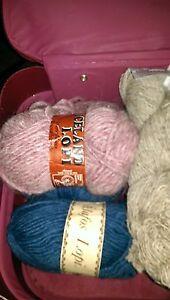 9 skeins of lopi wool, 3 skeins durasport