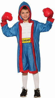 Kids Boxer Costume Boxing Gloves Shorts Robe Child Size Medium 8-10 - Child Boxer Costume