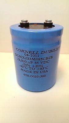 Cornell Dubilier 23000uf 85v Electrolytic Capacitor Dcmx233m085cb2b Dcmc