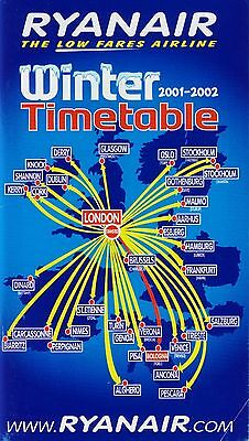 Ryanair Timetable  Winter 2001 2002