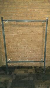 Single Solid Steel Bed frame w/Rollers