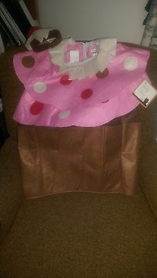 POTTERY BARN KIDS CUPCAKE HALLOWEEN COSTUME NWT NEW  7-8