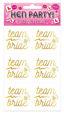 6 Team Bride Hen Party Tattoos - Night Tribe Holographic Squad Out Bag Badge
