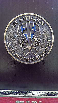 B12 1st Battalion 223rd Aviation Regiment LTC Stuck Challenge Coin