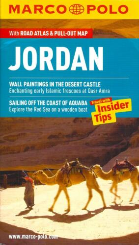Jordan, Road Atlas & Pull-Out Map, by Marco Polo Maps
