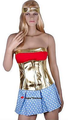 Wonder Woman Girl Wonderwoman Wondergirl Fancy Dress Costume - L 12-14