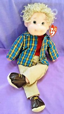 """RETIRED 2001 TY """"Rugged Rusty"""" BEANIE BOPPERS STUFFED DOLL with TAGS 12"""" ~ TOY"""