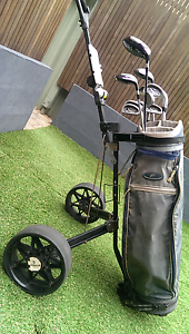 Super Scot Golf Clubs and Caddy Full Set Bicton Melville Area Preview