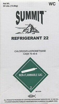 30 Lbs R22 Refrigerant Unused Factory Sealed Made In Usa Same Day Shipping