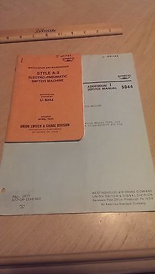 Westinghouse Air Brake Company Union Switch Pneumatic Switch Machine Guide 1977