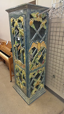 Aviary TROPICAL BIRD Room Jungle Wood&Glass Display Storage CABINET Forrest 1992