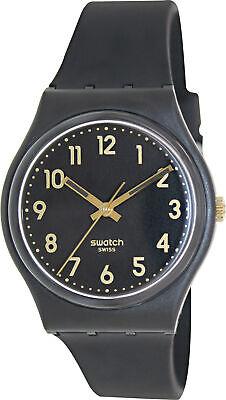 Swatch Men's Originals GB274 Black Silicone Swiss Quartz Fashion Watch